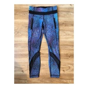 Galaxy print lululemon 7/8 length run pant